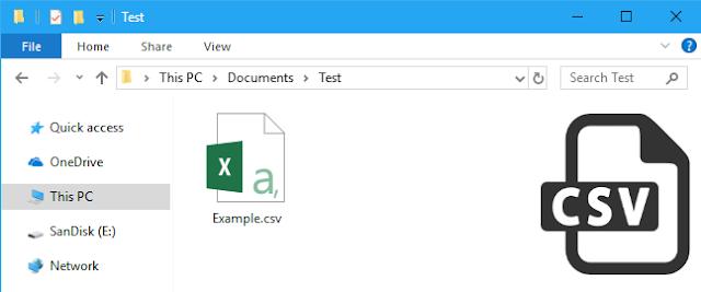 File ini kebanyakan menggunakan karakter koma untuk memisahkan  Cara membuka file CSV