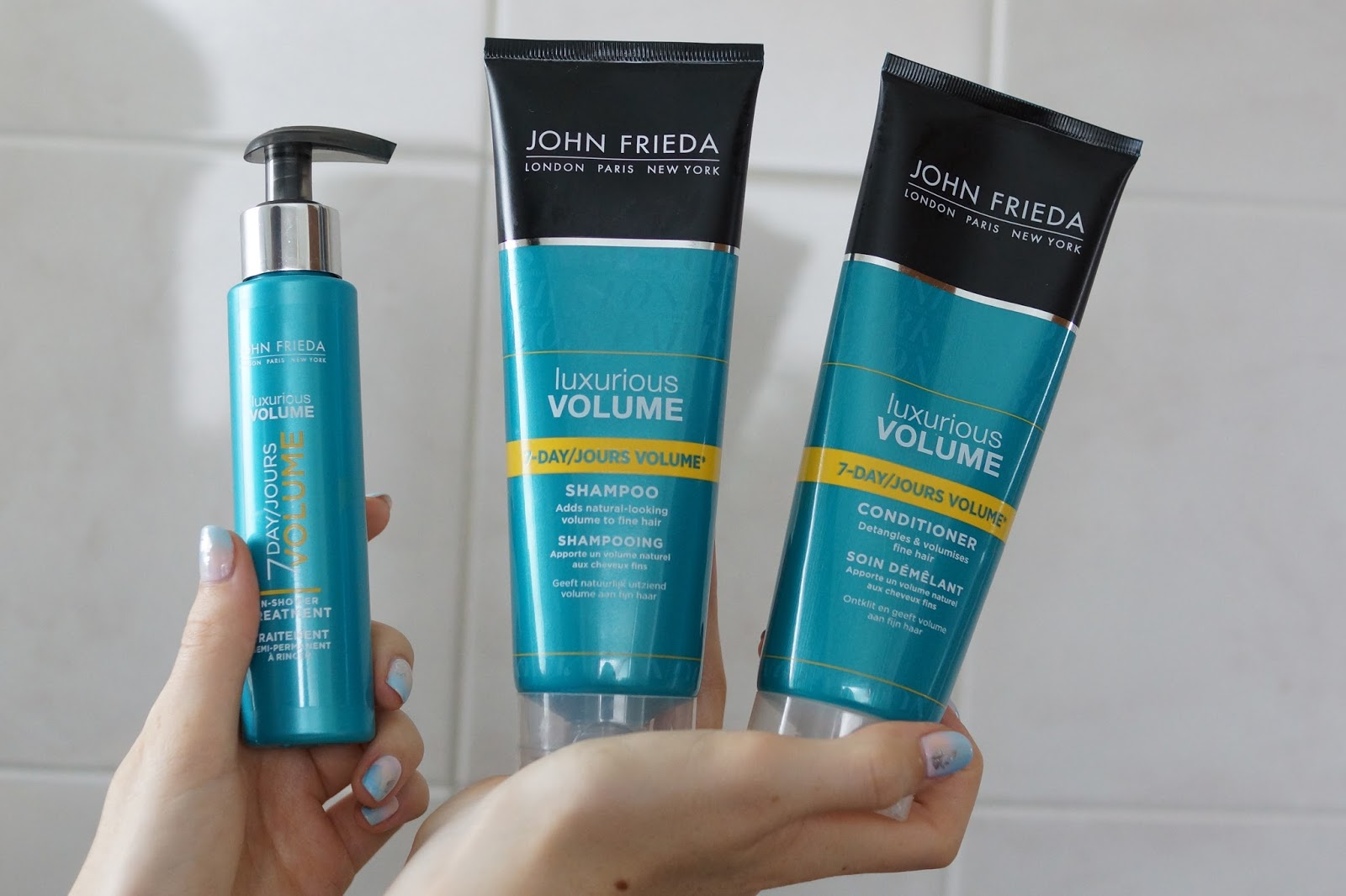 Hello Freckles John Frieda Luxurious Volume Haircare Product Review Beauty Hairstyle