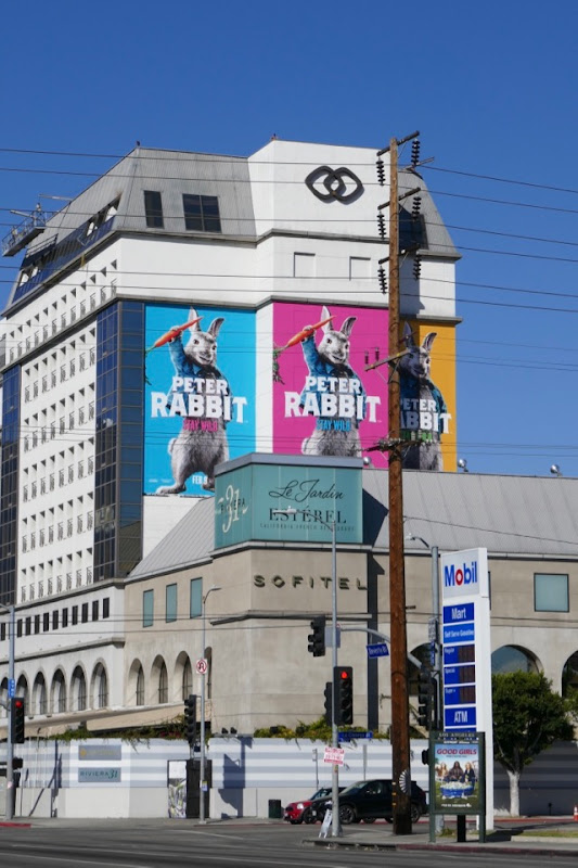 Giant Peter Rabbit film billboard