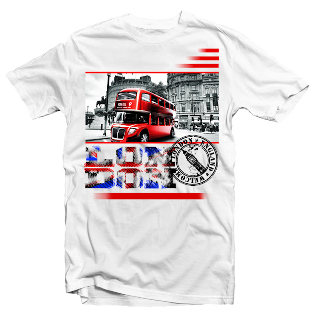 london tshirt design dtg