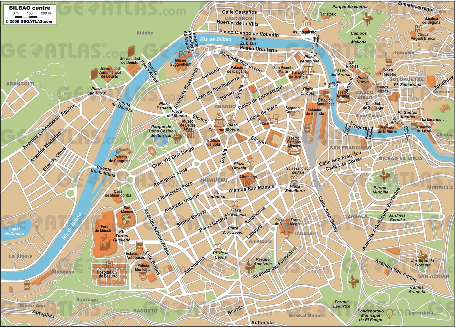 bilbao espanha mapa Mapas de Bilbao   Espanha | MapasBlog bilbao espanha mapa