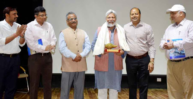 Dr. Rajendra Singh, known as 'Waterman of India', addressed the seminar at YMCA University