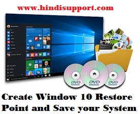 Create a Restore point for windows