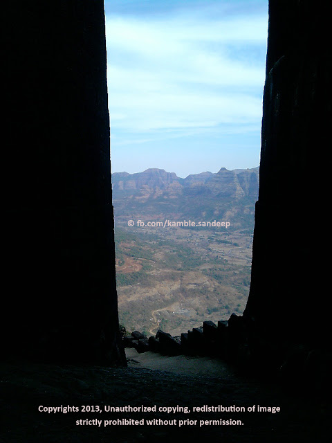 View From Maha Darvaja Raigad Fort Killa