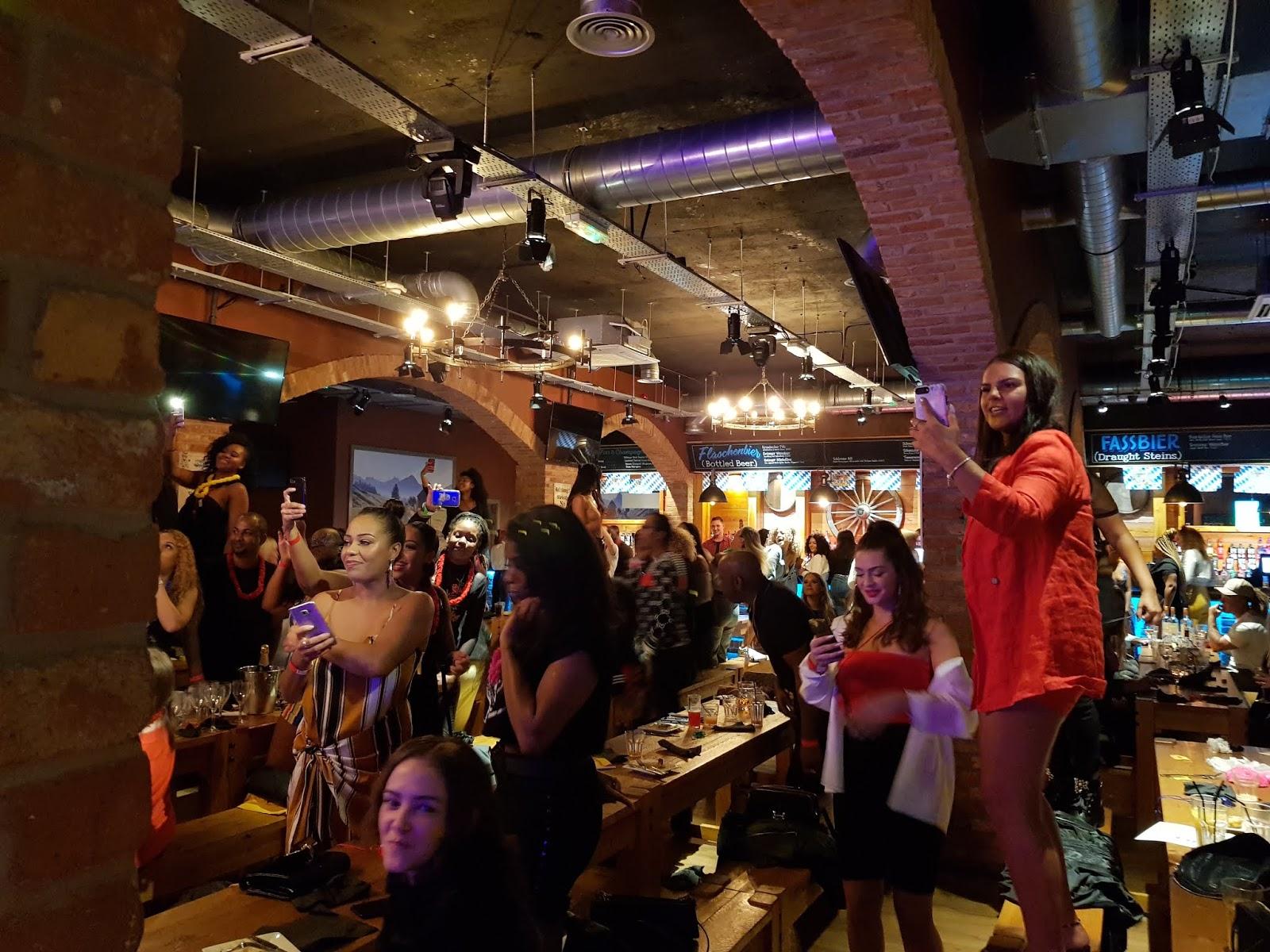 Reggae Brunch attendees dancing at Birmingham Bierkeller