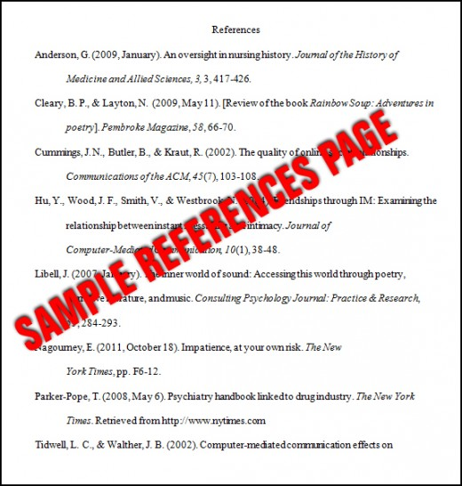 Reference List Relationship Examples  Free Sample Of Resume