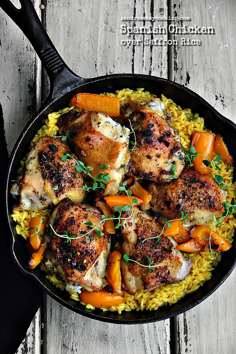 Spanish Chicken over Saffron Rice