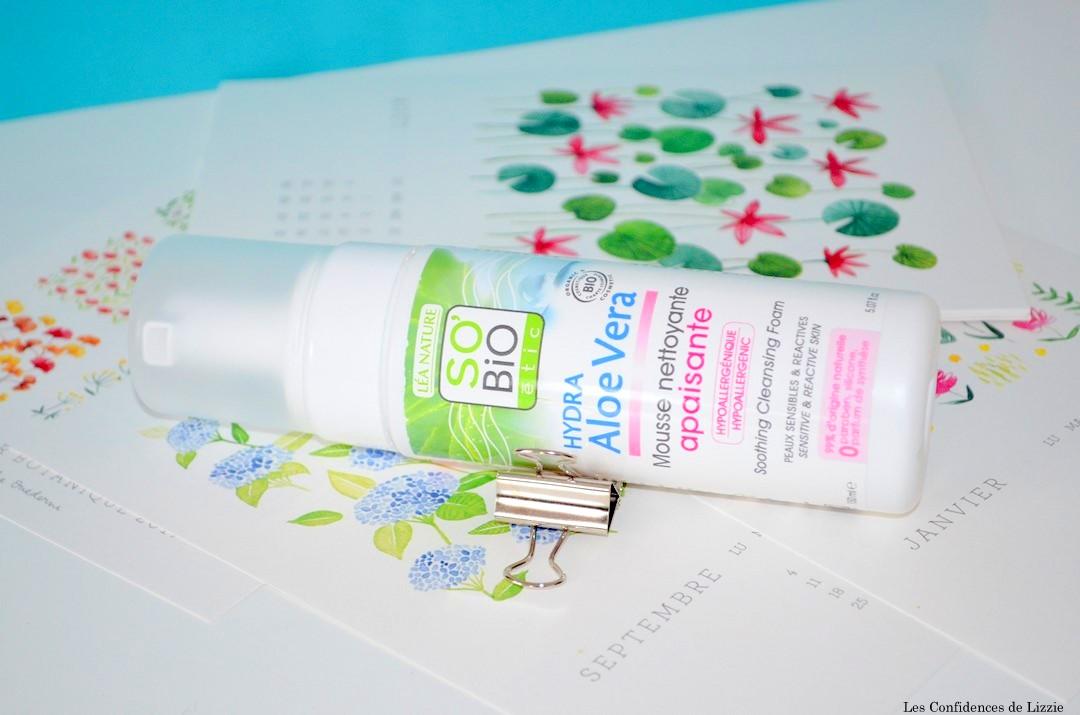 so Bio - bio - soin nettoyant bio - aloe vera - soin visage bio - demaquillant bio - mousse demaquillante bio - bio - naturel