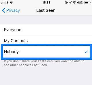 mematikan last seen pada whatsapp