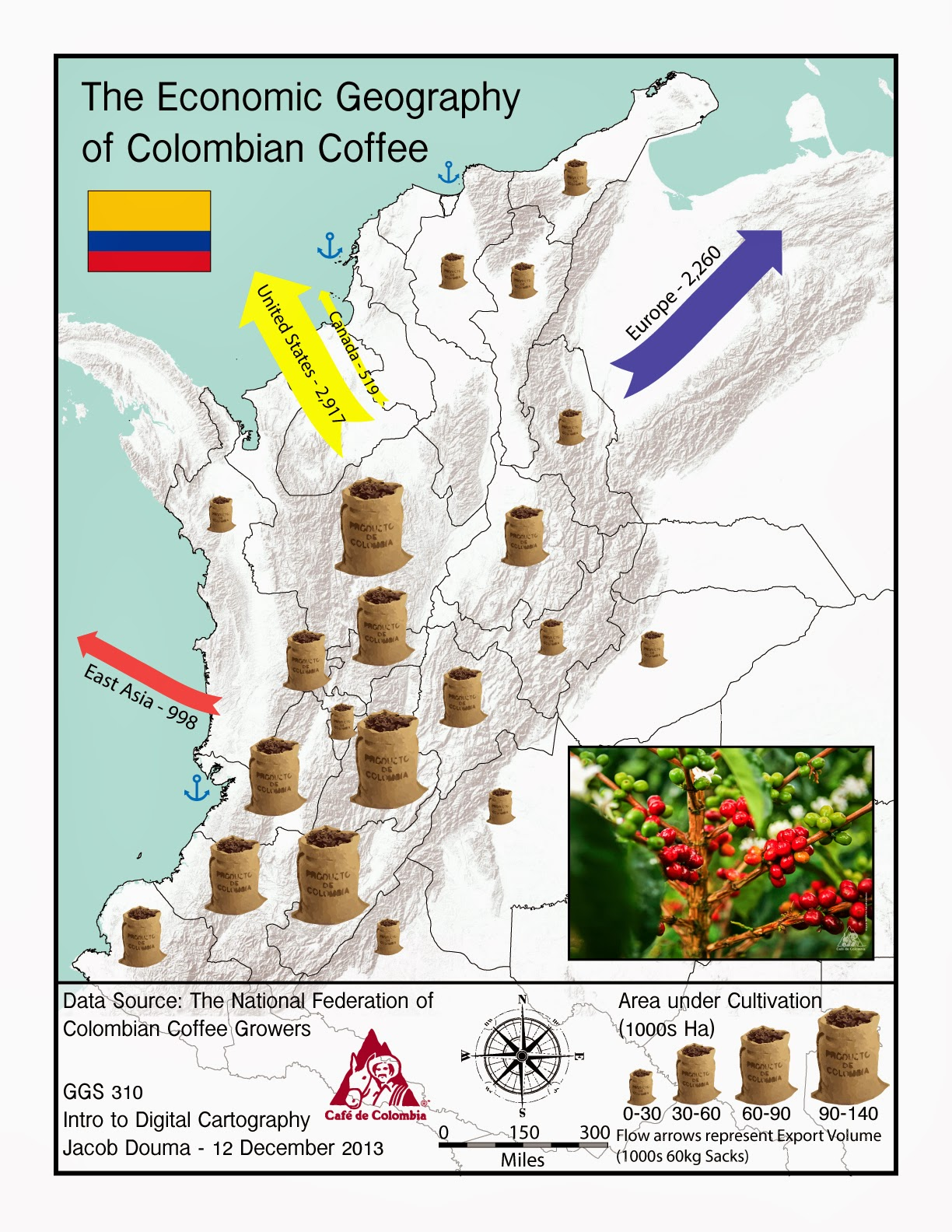 Average Maps And Such  The Economic Geography Of Colombian Coffee