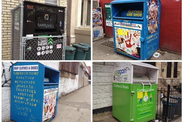 Queens Crap Clothing Bins Not Always Charitable