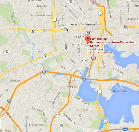 map of Hampton Inn Baltimore-Downtown-Convention Center