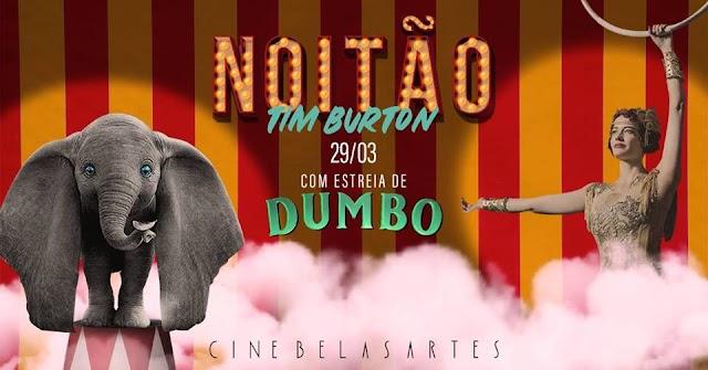 Cine Belas Artes: Noitão especial  Voando com Tim Burton