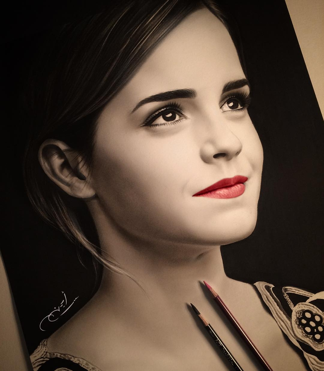 05-Emma-Watson-aymanarts-Realistic-Drawings-of-Celebrities-and-Other-www-designstack-co