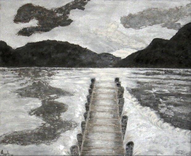 Pintura Mixta Acrilicos Y Arena De Playa Manualidades