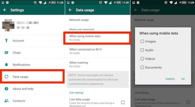 Cara menghentikan Download Gambar Otomatis Whats App di Android