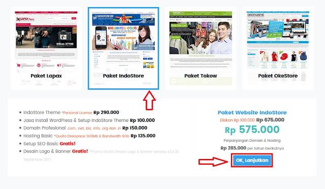 Harga Paket Toko Online Mulain Dari 500ribuan Oketheme | HENDI KIDDROCK