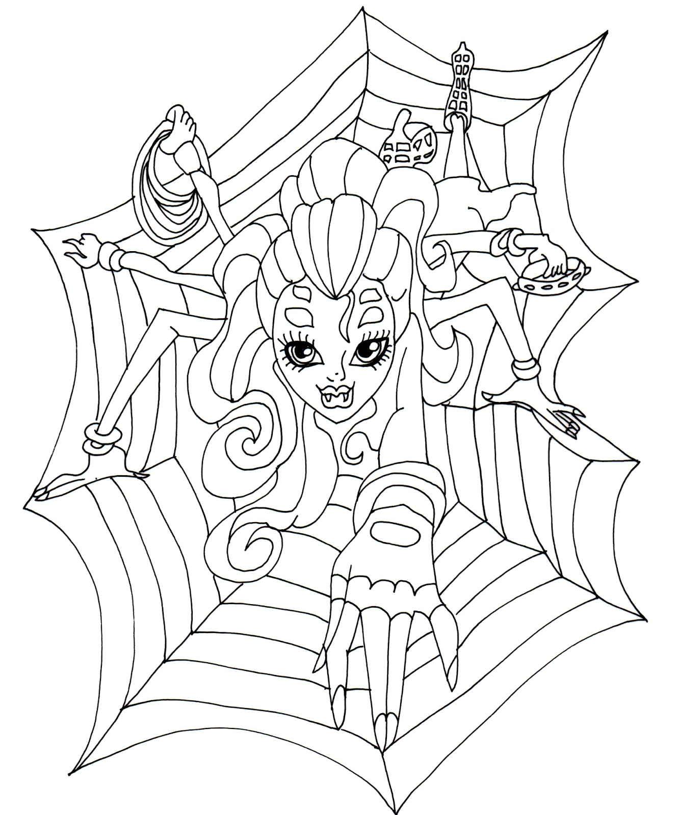 Free Printable Monster High Coloring Pages: Wydowna as