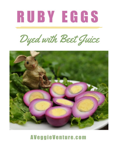Perfect Hard-Boiled Ruby Eggs ♥ AVeggieVenture.com. What's the secret ingredient?!