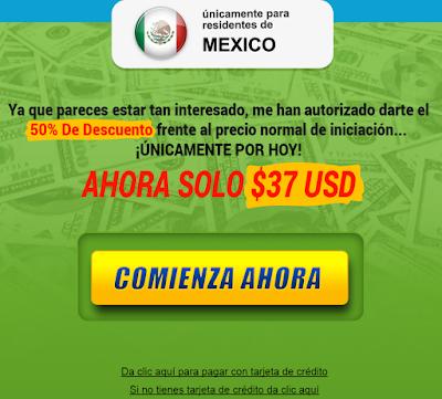 anuncio que incita a comprar el sistema piramidal