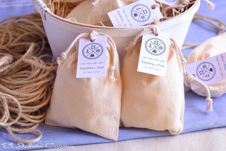 Detalles para boda marinera saquitos aromaticos para armarios