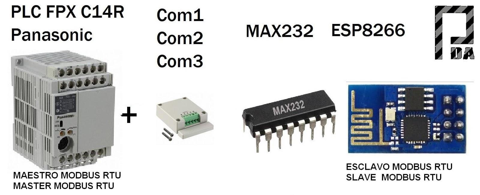 Esp8266 Scada Svg Modbus Rtu Display Oled Plc Panasonic Fpx C14r Ttl Level 8211 Rs232 Converter By Max232 Pdacontrol