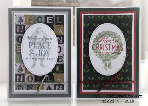 Tim Holtz Worn Wallpaper and Festive Overlay Stamp Set