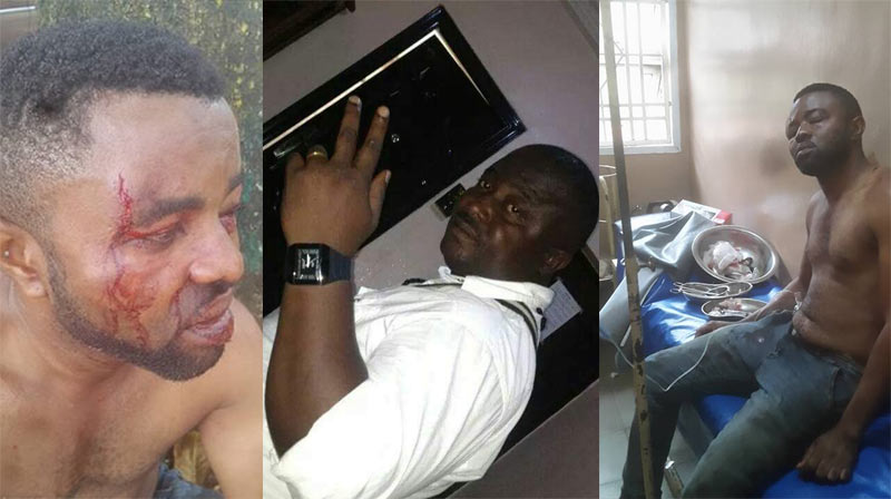 Graphic: Self-ordained community leader brutalize two brothers in Edo
