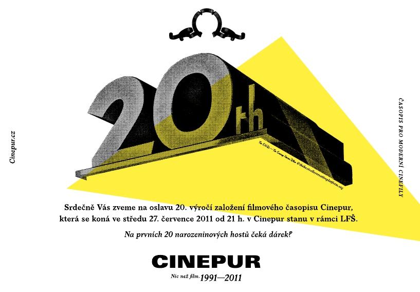 pozvánka na 20 narozeniny CATARANGA: Časopis Cinepur slaví 20. výročí pozvánka na 20 narozeniny