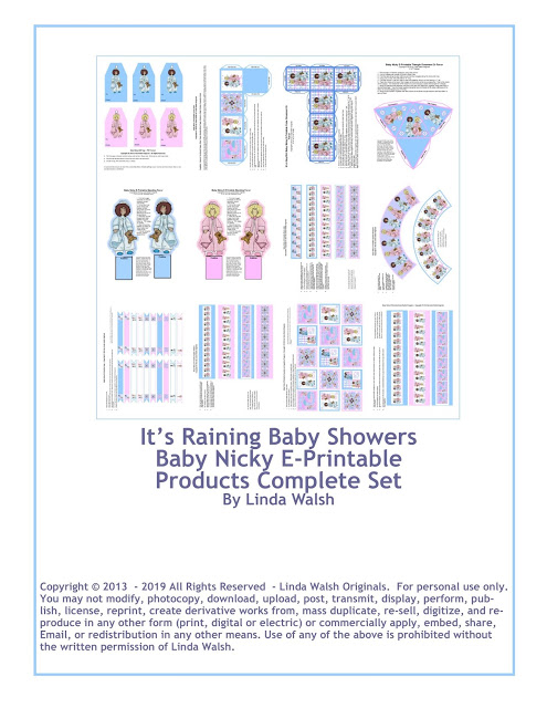 Baby Nicky Free Complete E-Printable Set