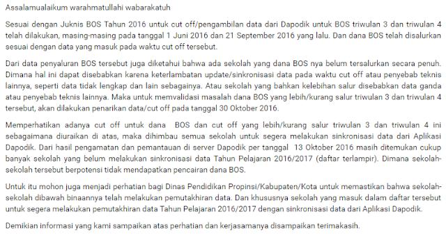 gambar info Penyebab Dana BOS Triwulan 3 Dan 4 Tahun 2016 Belum Cair