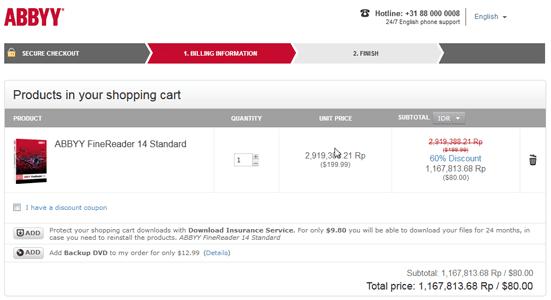 ABBYY FineReader 15 Coupon Discount