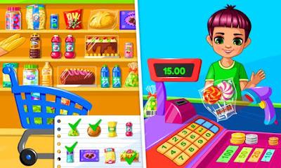 سوبر ماركت لعبة التسويق والشراء Supermarket للاندرويد