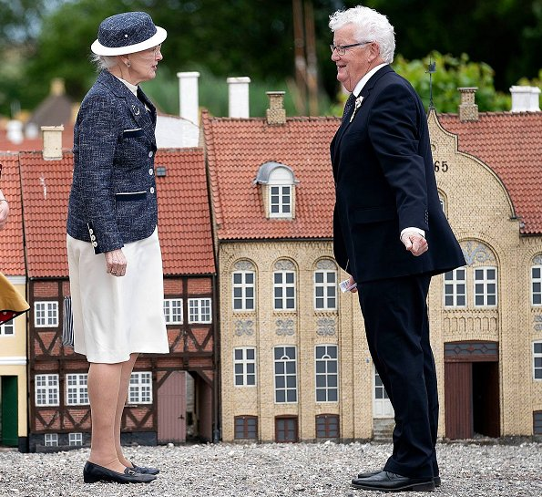 Queen Margrethe visited Borup School, Koege Mini-Town and Rehabilitation Center in Koege. Royal yacht Dannebrog