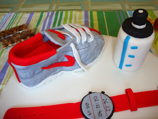 Detalle zapatilla correr tarta runner