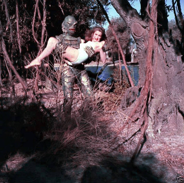 amazing behind the scenes photos of �creature from the