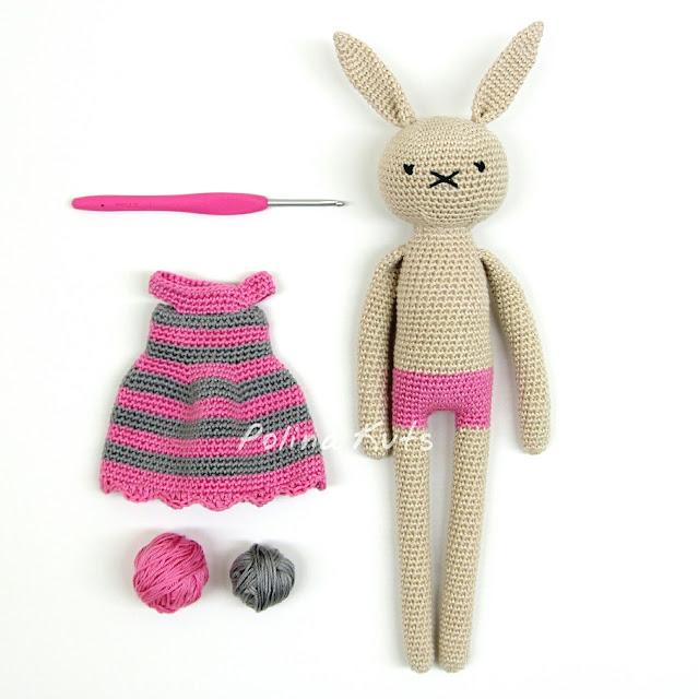 Amigurumi Rabbit Drees-Free Pattern - Amigurumi Free Patterns