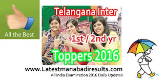Telangana Intermediate Toppers List 2016 1st 2nd year, TS Inter Toppers Name wise Nizamabad Toppers List Photos, Karimnagar Topeer in Inter 2016, TS State Inter 1st year Topper 2016, District wise Warangal Toppers List Roll No. wise, TS Inter Topper