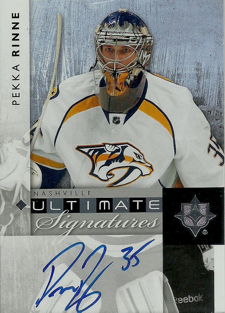 buy popular e6673 9ddff Hell's Valuable Collectibles: Pekka Rinne Autograph Card