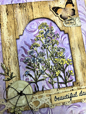 Sara Emily Barker http://sarascloset1.blogspot.com/ Shabby Card Faux Driftwood Tim  Holtz Sizzix Alterations Stampers Anonymous Distress Oxide 2