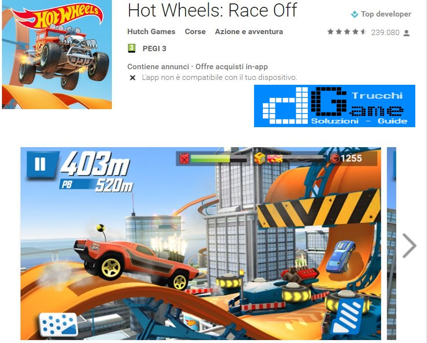 Trucchi Hot Wheels: Race Off Mod Apk Android v1.1.5598