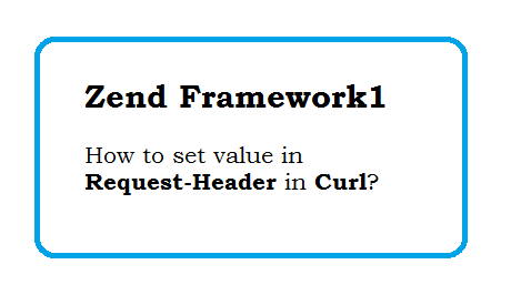 How to set authorization header in Curl using zend framework