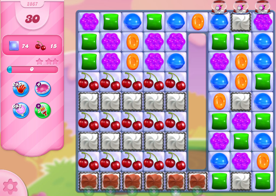 Candy Crush Saga level 2867