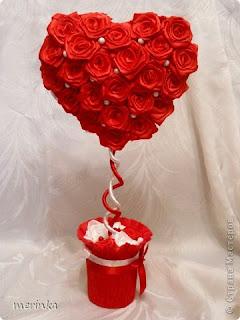 Сердце из роз топиарий мк