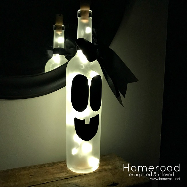 Recycled Wine bottle ghost