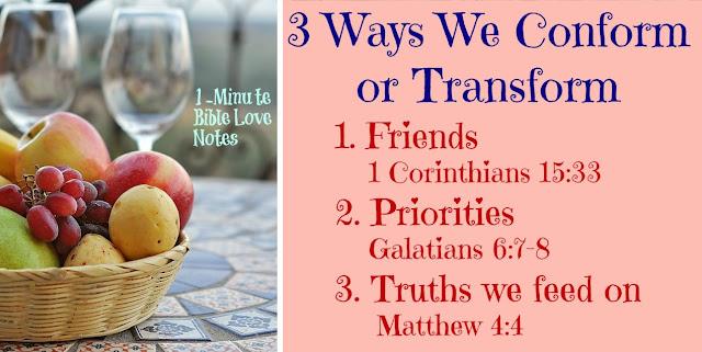 3 Ways We Conform or Transform