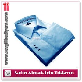 Kişiye Özel Nakışlı Gömlek Frenzy Marka Mavi