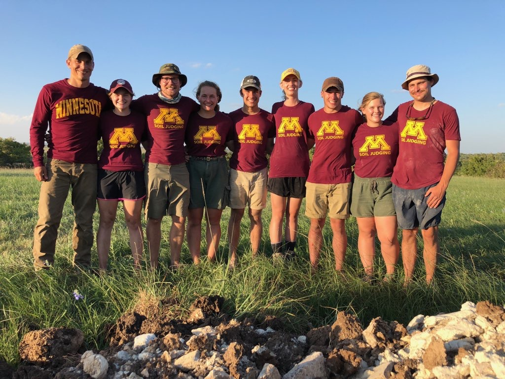 2018 University of Minnesota ASA Regional Soil Judging Team