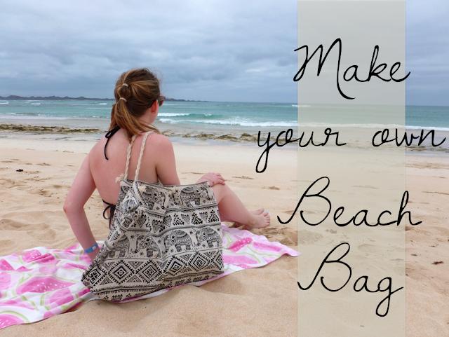 make your own beach bag