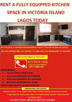 Rent an Equipped Kitchen Space in VI Lagos on Daily & Monthly Rates ...